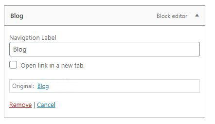 Wordpress Open Link in new Tab Checkbox